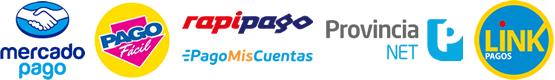 Pago-Facil, rapipago, Pago-mis-cuentas, Provincia-NET, Link-pagos